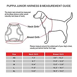 Puppia Authentic Junior Harness B, Small, Beige