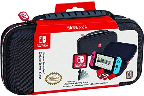 Nintendo Switch Bundle: 32GB Console Red and Blue Joy-Con, Nintendo Switch Wheel (set of 2), Deluxe Travel Case and… 4