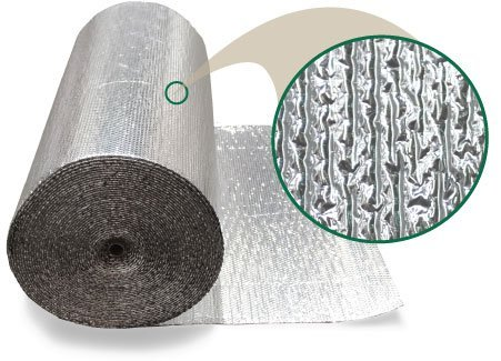 Tempshield BB-STD603 Single Bubble White & Foil Reflective Insulation - 500 Sq Ft Roll