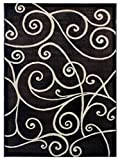 Cheap Modern Area Rug Design GL 23 Chocolate (5 Feet X 7 Feet)