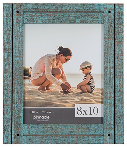 Pinnacle Frames and Accents 8X10 Rustic Turquoise Frame, Blu