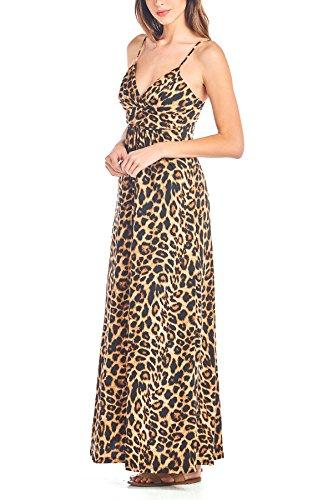 Leopard Print Maxi Dress - 6