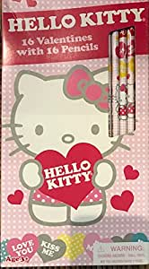 Amazon.com: Set of 16 Hello Kitty Valentines Cards and ...