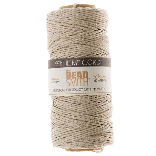 - Beadaholique Natural Hemp Twine Bead Cord, 60m