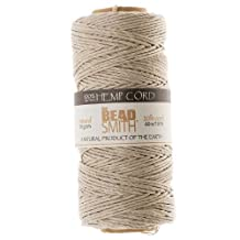 BeadaholiqueCA Natural Hemp Twine Bead Cord, 60m