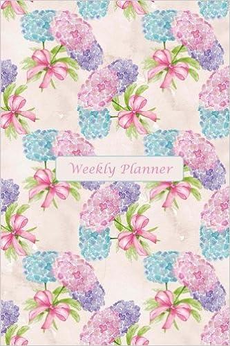 amazon com weekly planner pretty hydrangea watercolor weekly