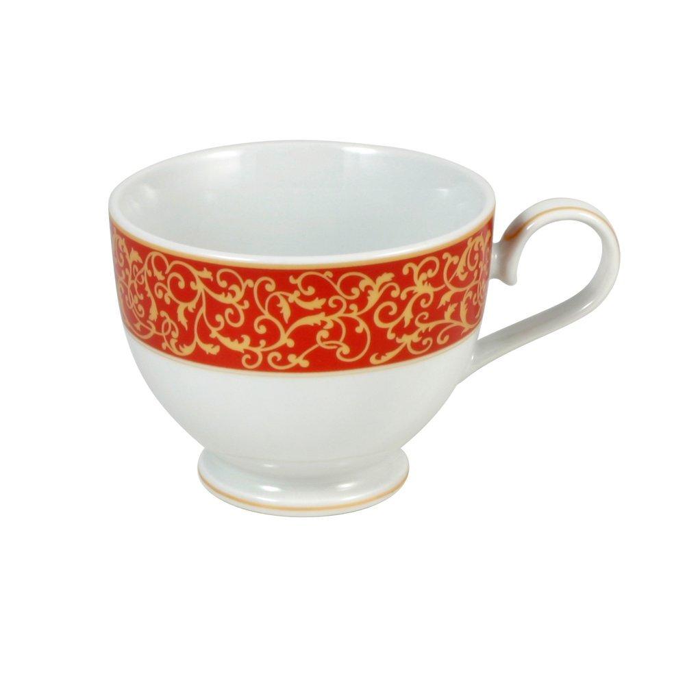 Mikasa Parchment Rouge Tea Cup 8-Ounce