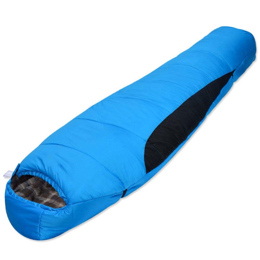 QFFL shuidai Mama Schlafsack Splicable   Leichte Erwachsene Outdoor Winter Baumwolle Camping Schlafsack (3 Farben erhältlich) (210  80 cm)