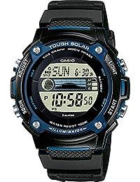 Men's WS210H-1AV Black Resin Quartz Watch with Digital Dial