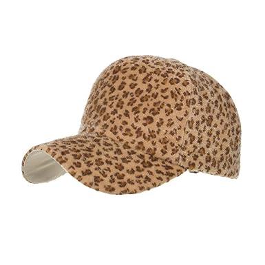 Gorra de béisbol Mujer Leopardo, 2019 Moda Cómoda Venta Mujeres Casual Otoño Invierno Beanie Hat Lana Leopardo Imprimir Hat Copa Absolute: Amazon.es: Ropa y ...