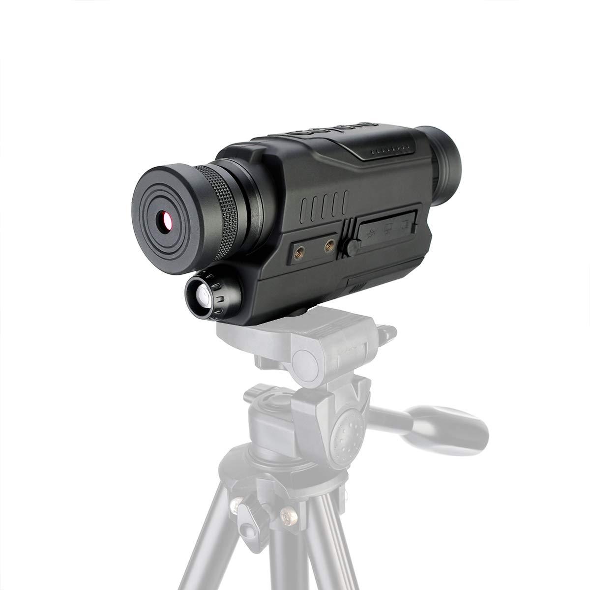 Svbony SV52 Monocular de Visi/ón Nocturna Digital 5X32 HD Funci/ón de Reproducci/ón de Video por Infrarrojos IR Pantalla LCD de 1,5 Pulgadas Tarjeta de 8GB TF Monocular para Caza