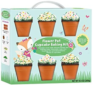 Amazon.com: Flower Pot Cupcake Baking Kit: Reusable Baking
