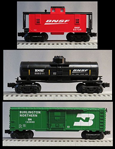 LIONEL BNSF CABOOSE, BOXCAR & TANK CAR 3 PACK o gauge for sale  Delivered anywhere in USA