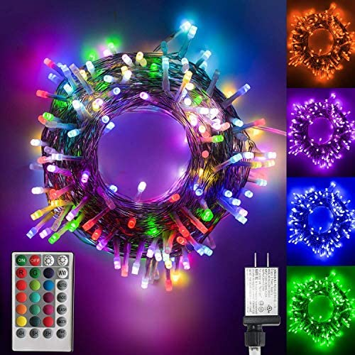 Color Changing led Christmas Lights, 200 LED 66ft Plug in Powered Multicolor Christmas Tree Lights with Remote Control for Bedroom Wedding Party Indoor Outdoor Decorations-16 Colors