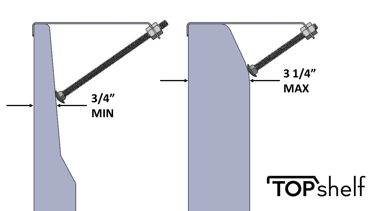 Universal Shelf for Small Cable Box Satelite Receiver or Streaming Media Devices for nearly any thin flat panel TV - TOPshelf 2 Pack