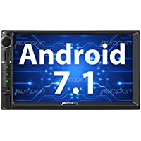 PUMPKIN Android 7.1 Car Stereo Universal Double Din Head Unit with 2GB RAM, WiFi, Android Auto, Support Fastboot, Navigation, Backup Camera, MirrorLink, USB SD, Subwoofer