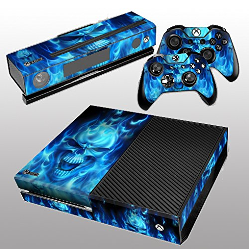 Bingco Skins Stickers Cover Faceplate for Microsoft Xbox One Console +  Kinect + 2 Controllers - Blue Skull: Amazon.co.uk: PC & Video Games