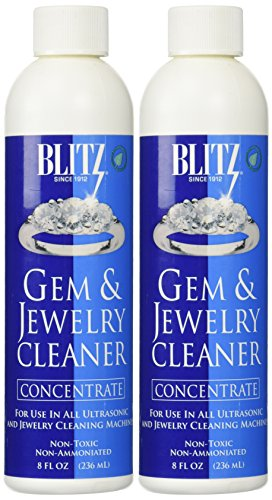Blitz 653 Gem & Jewelry Non-Toxic Cleaner Concentrate for use in Cleaning Machines, 8 Ounces, 2-Pack ()