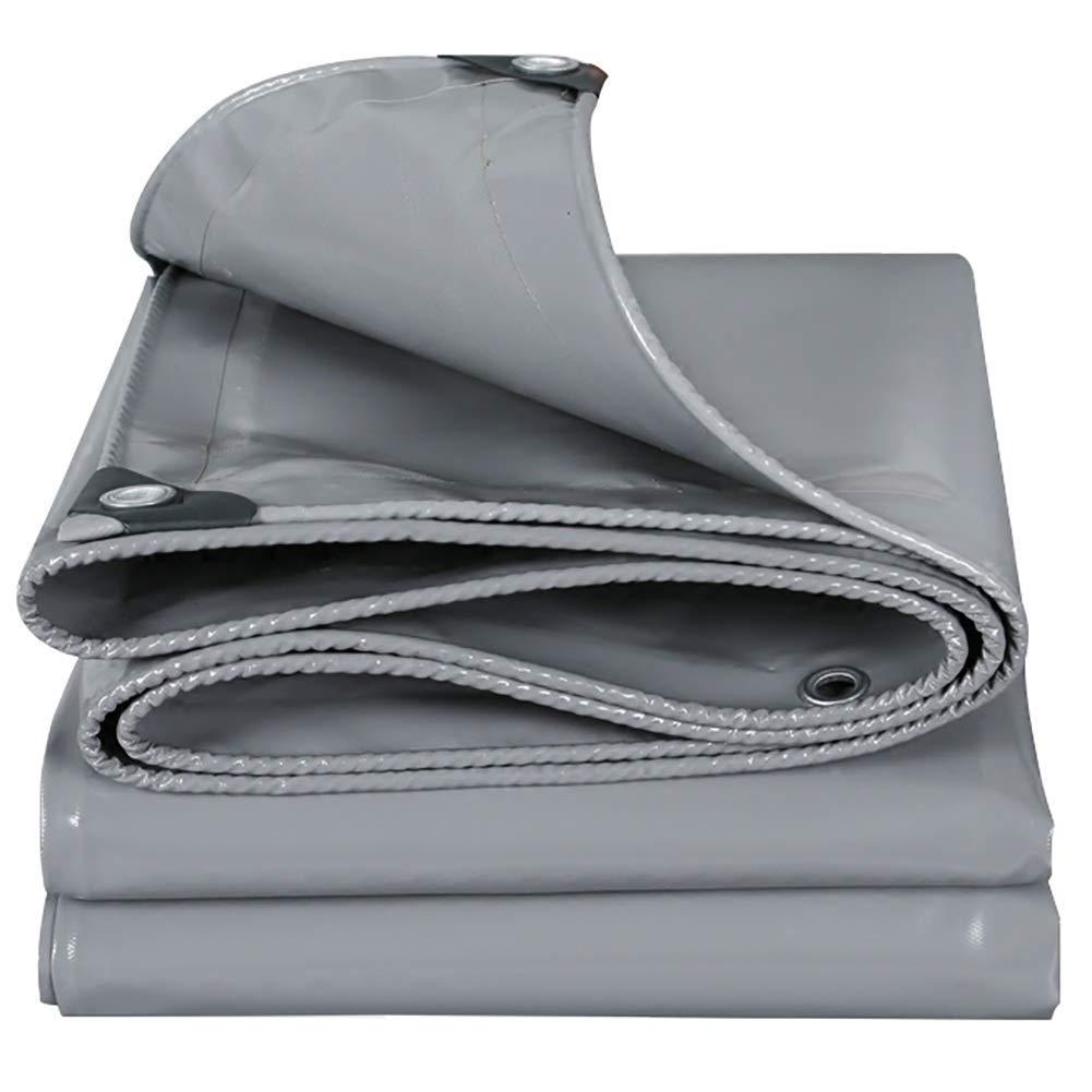 gris 1.9X1.9m T-ShommeET BÂche Résistante épaissie Perforée Anti-VieillisseHommest Imperméable à l'eau écran Pare-Chocs Antirouille Extérieur (LxW 1.9X1.9 m) Tissu Imperméable à l'eau