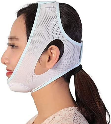 Slim身Vフェイスマスク、顔を持ち上げる包帯、小さなV顔美容マスクリフト顔筋肉包帯プラスチックお楽しみストラップ(サイズ:M)