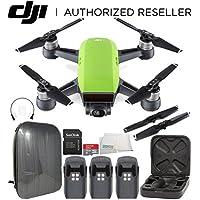 DJI Spark Portable Mini Drone Quadcopter Hardshell Backpack Ultimate Bundle (Meadow Green)