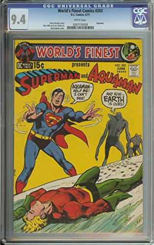 WORLD#39;S FINEST COMICS #203 CGC 9.4 WHITE PAGES