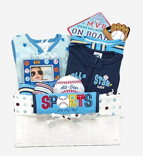 Image Unavailable  sc 1 st  Amazon.com & Amazon.com: Baby Boy Gift Basket All Star Sports Baseball Baby Gift ...