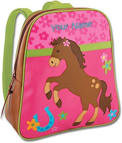 Kids Embroidered Backpacks (Personalized Stephen Joseph Girl Horse Go Go Backpack with Embroidered)