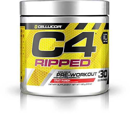 Cellucor, C4 Ripped, Explosive Pre-Workout Supplement and Cutting Formula, Fruit Punch, 30 Servings