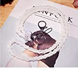 Surpriseyou(TM) String of Pearls Long Neck Strap Lanyard Keychain Keyring Holder Necklace for Cell phone iPod mp3 mp4 USB Flash Drive Keys ID card badge Eyeglass Holder (White)