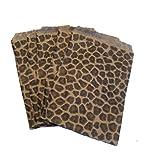 USA Premium Store 1000 Kraft Black Leopard Print Design Paper Bags Retail Jewelry Bags 6'' x 9''