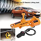 Electric Car Jack-2/3 Ton Automotive Electric Scissor Lifting Jacks SUV Emergency Equipment with Impact Wrench 12V DC RV Floor Jack (3 Ton)