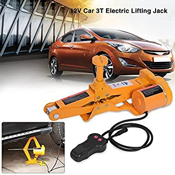 3 Ton 12V DC Scissor Lift Jacks Electric Jack Lifting Car SUV Emergency Equipment Impact Wrench with Controller Automotive Electric Car Jack