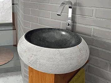 bathco – bathco Waschbecken auf Waschtischplatte Stein Fiji ... | {Waschtischplatte stein 28}