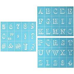Martha Stewart Crafts 33549 Martha Stewart Bodoni Alphabet Silkscreens, Bodoni Alphabet