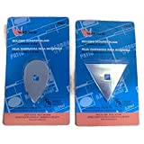 MSPowerstrange Replacement Paint Scrapers Blades Putty Removal Two Molding(2 1/4'' triangle blade and 2 1/4'' teardrop blade)