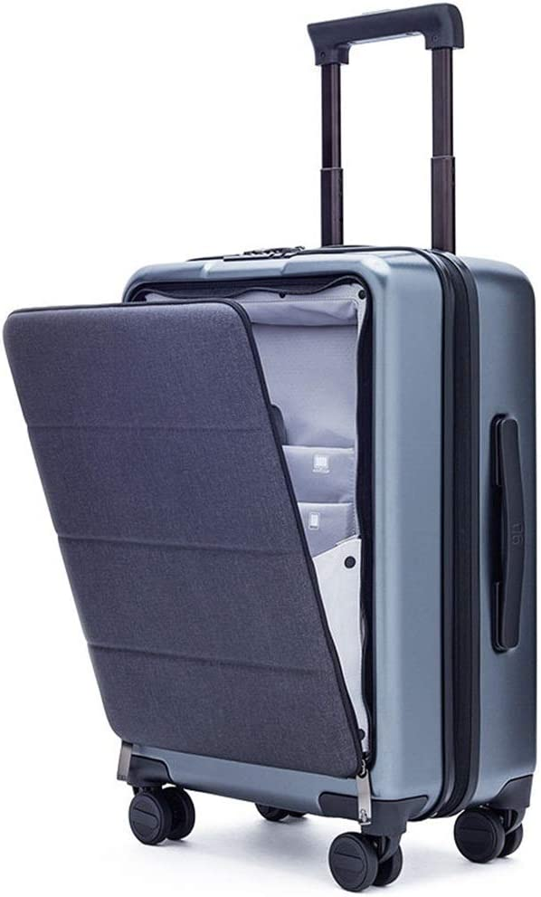 Color : Titanium ash, Size : 513723cm Hand Luggage Super Lightweight ABS Hard Shell Travel Carry On Cabin Suitcase with 4 Wheels ZHANGAIZHEN