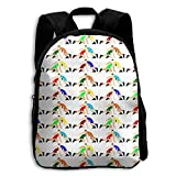 Child Backpack Cute For School | 27''x34''x9'' | 3D Printing Wrestling Wrestlers Pattern White