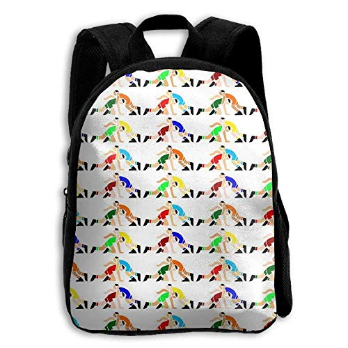 Child Backpack Cute For School | 27''x34''x9'' | 3D Printing Wrestling Wrestlers Pattern White by REDCAR