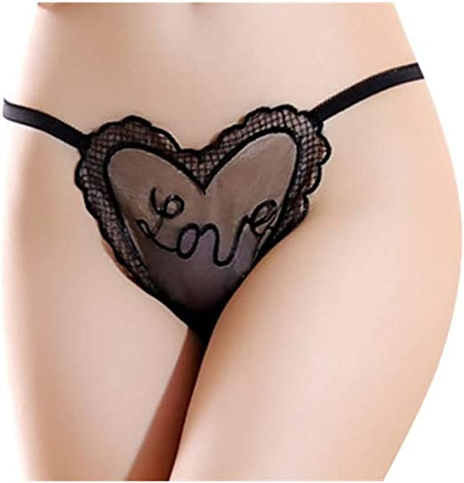 Women/'s Sheer High-Rise  Stretchable Lace G-String