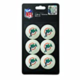 Franklin Sports NFL Miami Dolphins Franklin Table Tennis Balls 6 pack