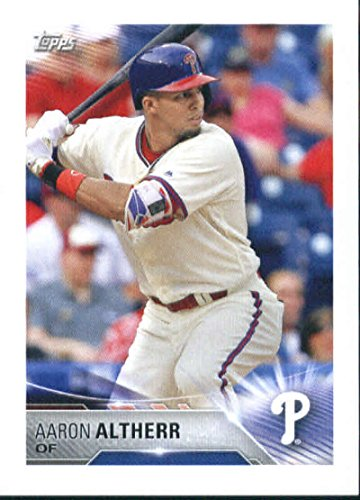 2018 Topps MLB Baseball Sticker Collection #266 Aaron Altherr Philadelphia Phillies Paper Thin 2 by 3 inch Stickers for Album