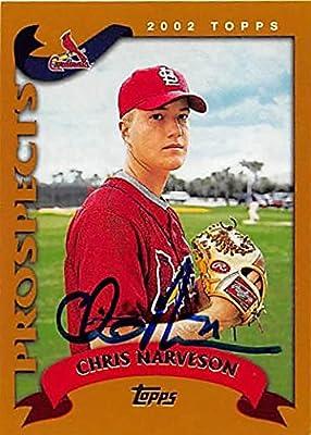 Chris Narveson Autographed Baseball Card St Louis