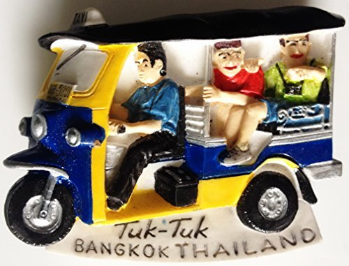 Tuk-Tuk TAXI Bangkok Thailand Resin 3D fridge Refrigerator Thai Magnet Hand Made Craft. by Thai MCnets by Thai MCnets by Thai MCnets