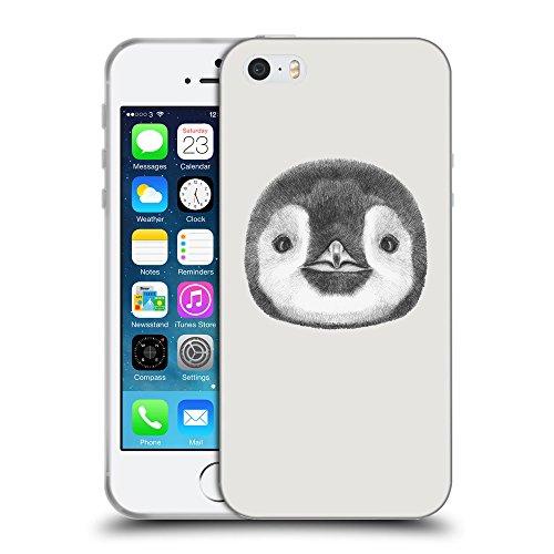 GoGoMobile Coque de Protection TPU Silicone Case pour // Q05310631 Visage pingouin Platine // Apple iPhone 5 5S 5G SE