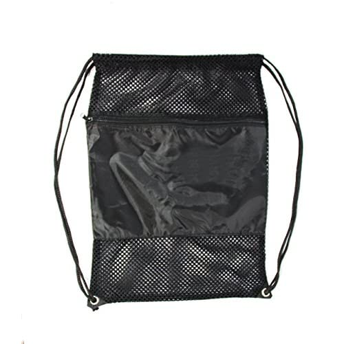 SmartTravel4Less Mesh Drawing Backpack, Black