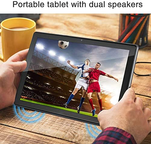 "HAOVM Mediapad P10 10inch Tablet, Android 10.0 Pie, Octa-Core 1.6GHz Processor, 3GB RAM 32GB Storage 8.0MP Camera, 10.1"" IPS HD Display, Wi-Fi, USB Type C Port, GPS, FM, Brushed Texture Back"