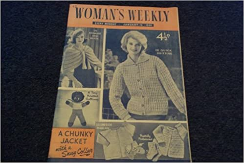 Womans Weekly Knitting Pattern Magazine January 16th 1960 Tiny