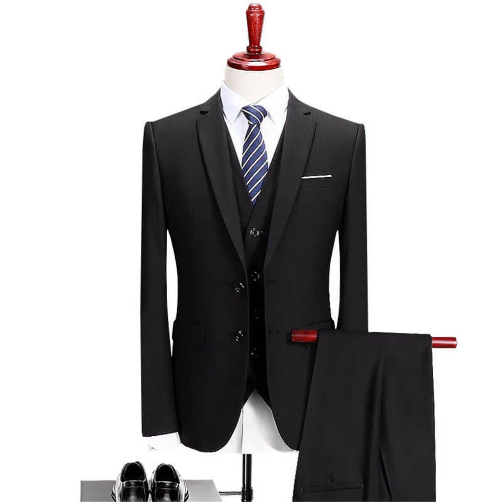 VAGUE STAR Mens Slim Fit 3 Piece Suit 901