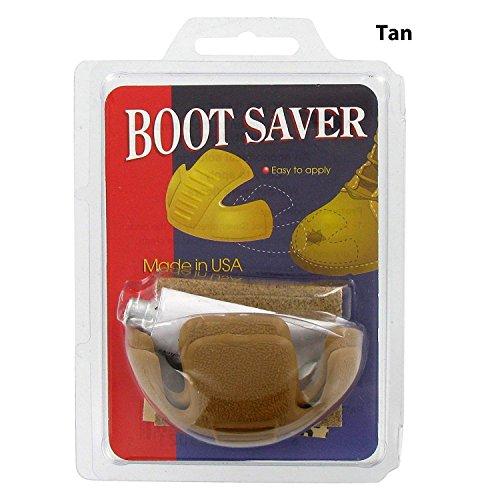 Boot Saver Toe Guards Work Boots Protector - Boot Toe Cover/Repair 1 Pair (Tan)